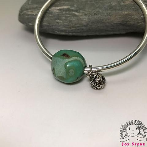 Silver Turquoies Bead Silver Charm Pendant Bangle