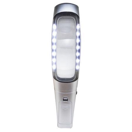 4X Rectangular led lighted handheld magnifier
