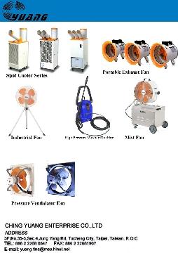 Spot Cooler, Portable Exhaust Fan, Industrial Fan, Mist Fan, Ventialator Fan