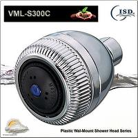 Innovative and Modern Plastic Wall Mount Showerhead w/3 settings by Variational Sprayer Pattern