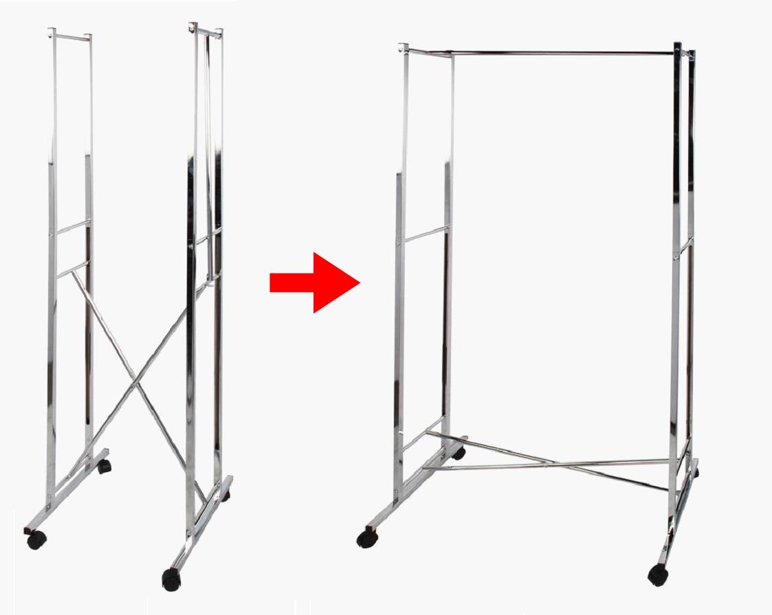 folding clothes rack garment rack hanger drying rack home appliance metal