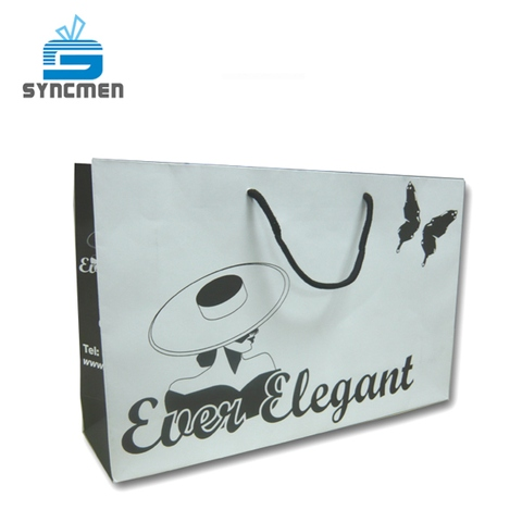 Syncmen White Kraft Paper Bag-Redcurrent