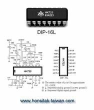 Audio Echo Control IC HK723, DIP-16L