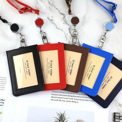 ID Card Holder Set (Vertical Type)/ With Retractable Badge Reel