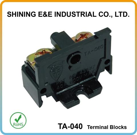 Tornillo 26 AWG 4 formas 10 AWG 32 A 6 mm² Bloque terminal de montaje en carril DIN