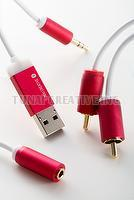 FIREFLY - Bluetooth receiver for home stereo (RED)