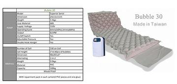 Bubble 30 Ripple Type Mattress System With Pump