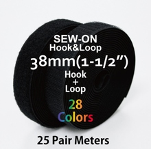 "38mm(1.5"") Width 25 Pair Meters Sew-On Hook & Loop"