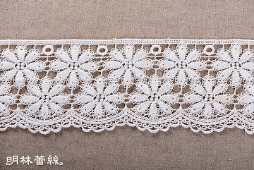 Thick cotton yarn three dimensional flowers Water soluble lace material,apparel accessories lace,