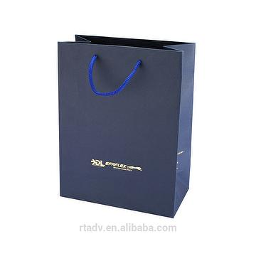 Taiwan Personalized Logo Eco Friendly Paper Bag With Converting Spot