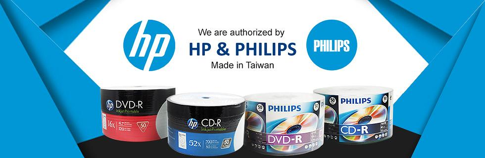 HP, Philips Blank CD, DVD, Blu-ray Discs