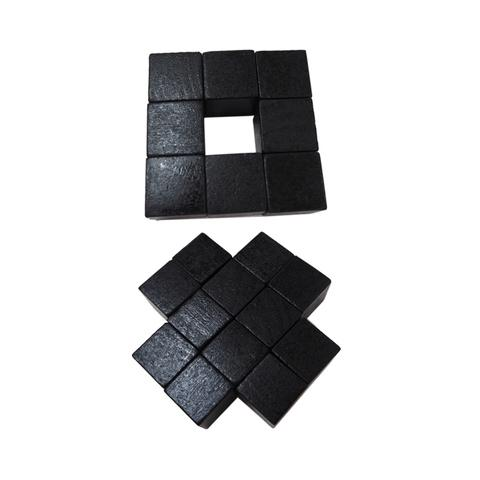 2cm Black Wood Cube