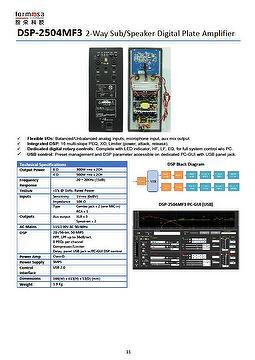 2-Way Sub/Speaker Digital Plate Amplifier