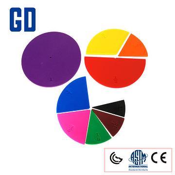 Circle fraction set