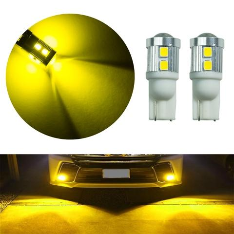 Tail Light T10 w5w Wedge Gold Yellow 10 SMD 5630 LED Lens