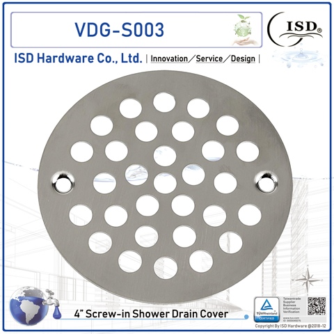 """4"""" O.D. Screw-on Strainer - Stainless steel Cover"""