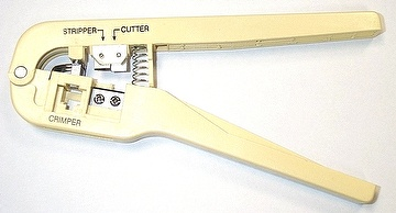 Telephone Jack and cable crimping tool