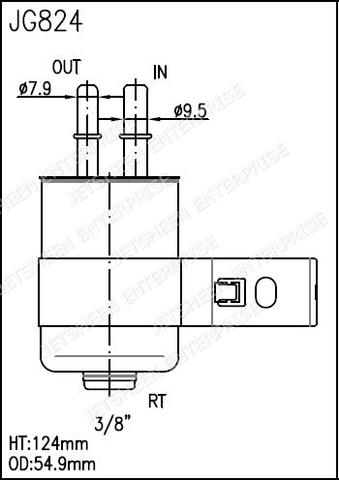 Fuel Filter ACDelco Pro GF824