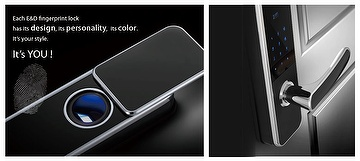 Fashion Black Fingerprint Lock, Electronic Lock, Intelligent Lock