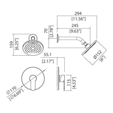 Flicker - Single handle Shower faucet (In Wall shower only)