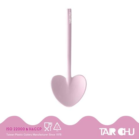 9cm PS Lilac Icing Purple Disposable Plastic Heart Shaped Spoon/ Ice Cream Spoon/ Dessert Spoon Made by Taiwan Factory