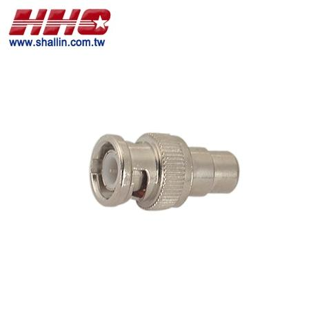 Taiwan RF/Coaxial connector, BNC male to RCA jack, RoHS