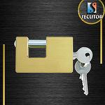 70mm Heavy Duty Brass Rectangular Padlock
