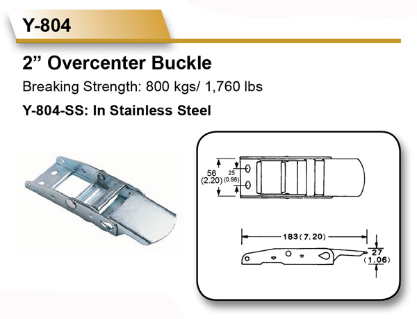 [EZ LOAD] 50mm 800KGS Curtain Side Van Truck Overcenter Buckles