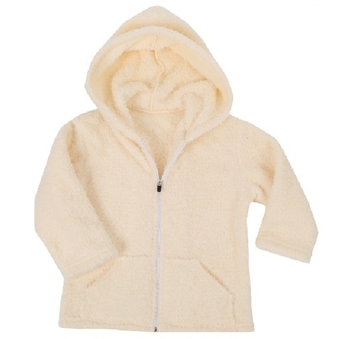 Toddler's Plush Zip Up Hoodie Warm Outwear Coat