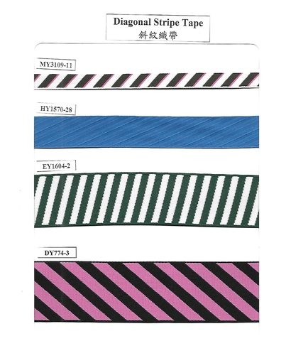 Diagonal Stripe Tape, Garment Accessories