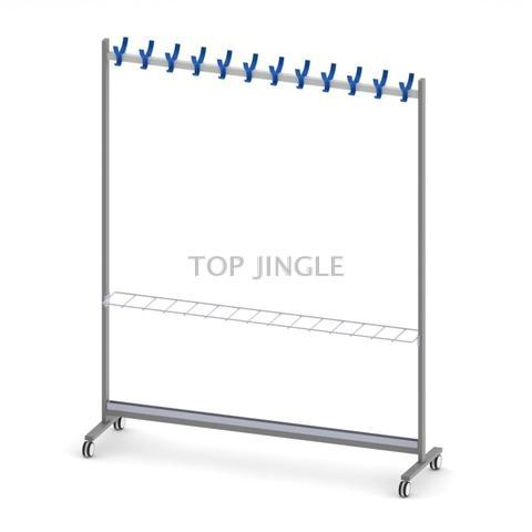 Hooks Horizontal Clothes Rack with Umbrella Holder Stand