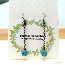 Dangle Diffuser Blue Aroma Rock Earrings with Tee Tree 2