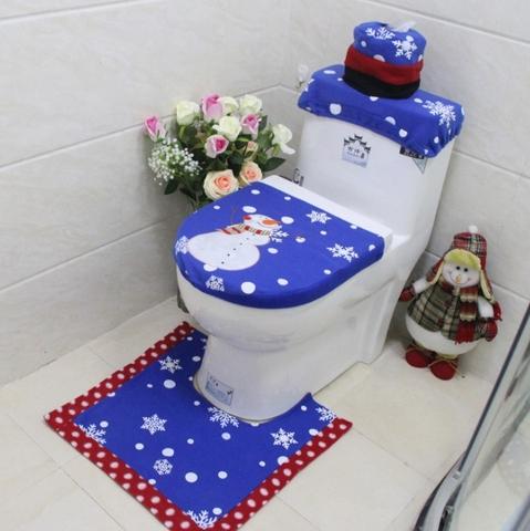 Excellent Taiwan 3Pc Christmas Festive Snowman Toilet Seat Cover Pabps2019 Chair Design Images Pabps2019Com
