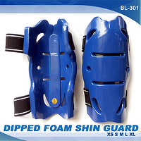 DIPPED FOAM SHIN GUARD, KARATE, TAEKWONDO, JUDO, MARTIAL ARTS
