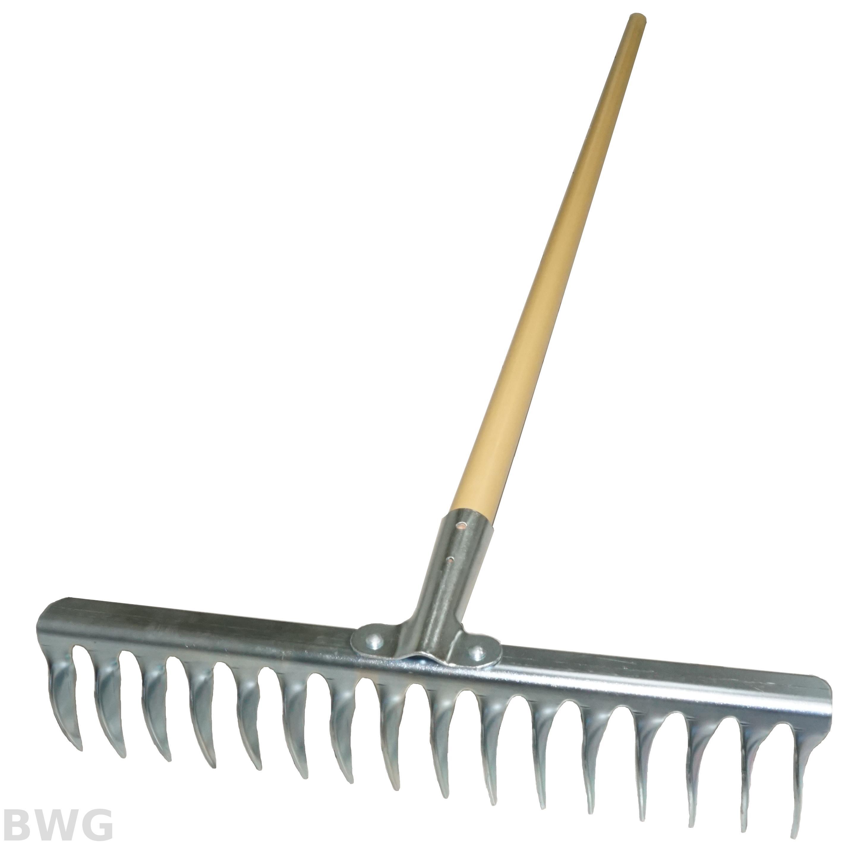 Landscape Garden Hand Tool 16 Tines Soil Rake ...