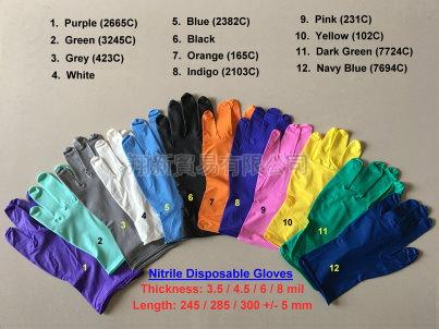 Disposable Nitrile Gloves (Powdered & Powder-Free) | Taiwantrade.com