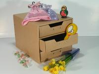 Storage box with 3 drawers (cardboard) (SL-AP03-ICL)