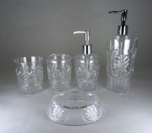 ACRYLIC EMBOSSED FLOWER BATH SETS