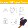 Uncooled LWIR Thermal Camera Module diemension