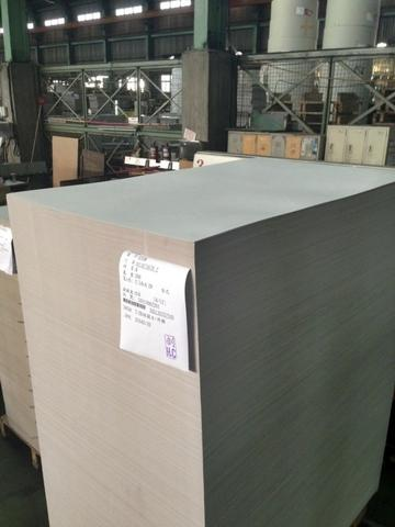 Uncoated duplex board with grey back