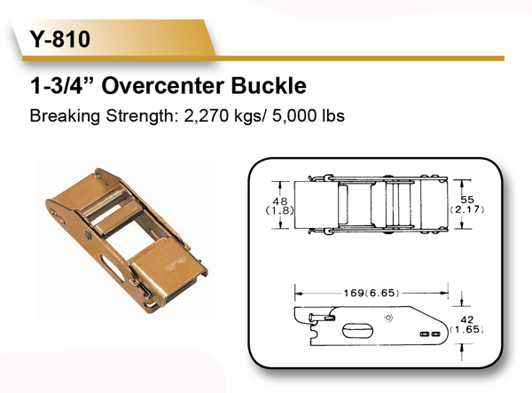 [EZ LOAD] 1-3/4 Inch 5000 LBS Overcenter Buckles for Curtain Truck