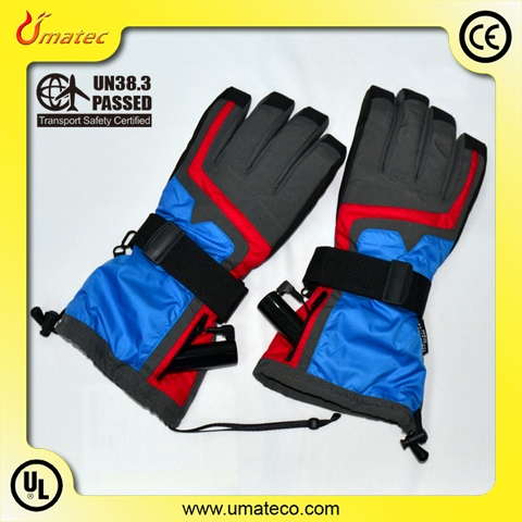 Rechargeable Battery Heating ski gloves machine washable