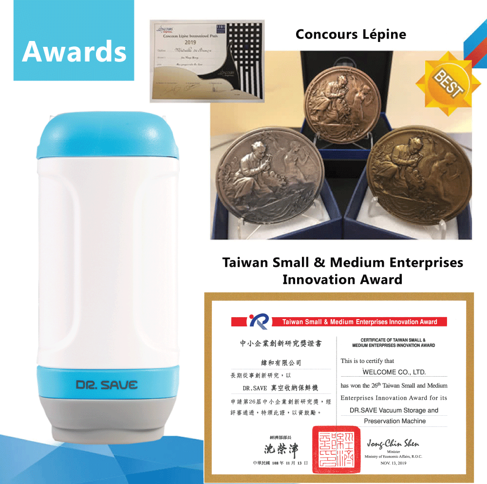 DR. SAVE UNO Handheld Vacuum Sealer has won many awards.