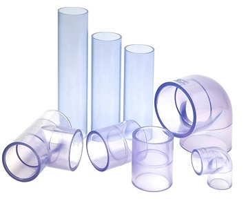 clear pvc pipe and fittings