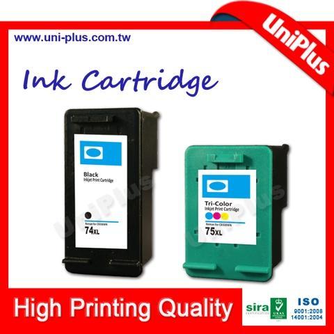 Cartucho de tinta genuino original compatible para HP 74 75 CB335W CB337W cartucho de tinta de color negro para impresora
