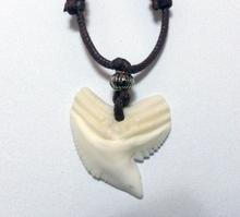 Tiger Shark Tooth Necklace with movable cord