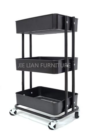 3 Tier Utility Rolling Cart-Metal