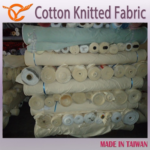 Taiwan 2016 Latest Knitted Fabric Single Jersey Fabric Stock Lot For