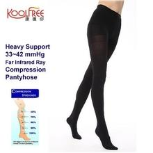 1 Pair Heavy Support 33-42mmHg Far Infrared Compression Pantyhose S-XL Graduated Tights
