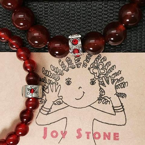 Red Agate 6mm+10mm Lovers Beaded Bracelets